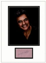 Johnny Mathis Autograph Signed Display